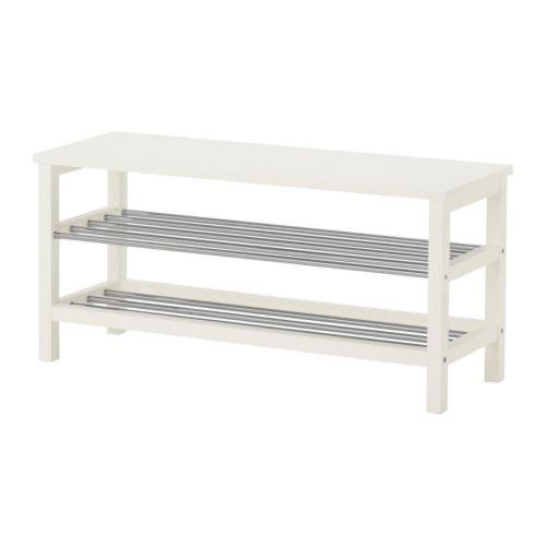 Ikea TJUSIG - Banco con almacenaje del Zapato, Blanco ...