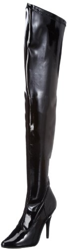 Pleaser EU-SEDUCE-3000 SED3000/B, Stivali donna Nero (Blk str pat)