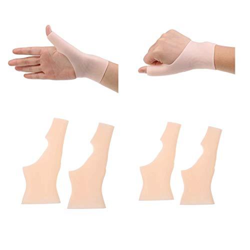 sharprepublic 2 Paar Silikon Gel Handgelenk Hand Daumen Unterstützung Klammer Für Die Rechte Linke Hand Karpaltunnel Arthritis -