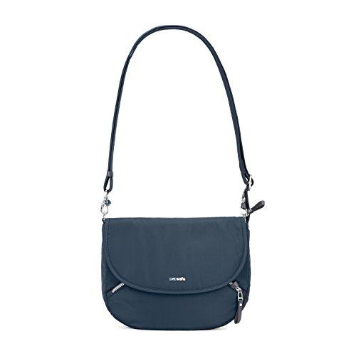 Pacsafe Stylesafe Crossbody Umhängetasche, kleine Anti-Diebstahl Tasche für Damen, Schultertasche mit Diebstahlschutz, Sicherheits-Features - 4 Liter, Uni, Blau/Navy