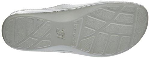 Tamaris Damen 27510 Pantoletten Weiß (WHITE LEATHER 117)