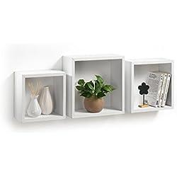 Modul'Home 6RAN789BC Cube Gigogne de Rangement Panneau/MDF Blanc 11,8 x 30 x 30 cm