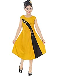 Avistar Girls Cotton Blended Frock Dress