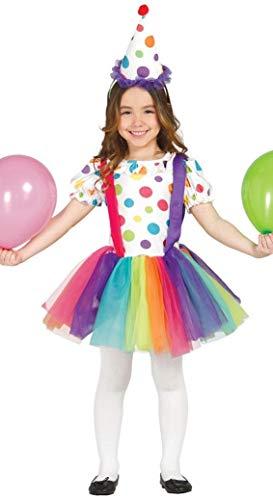 Clown - Kostüm für Mädchen Gr. 98 - 134, ()
