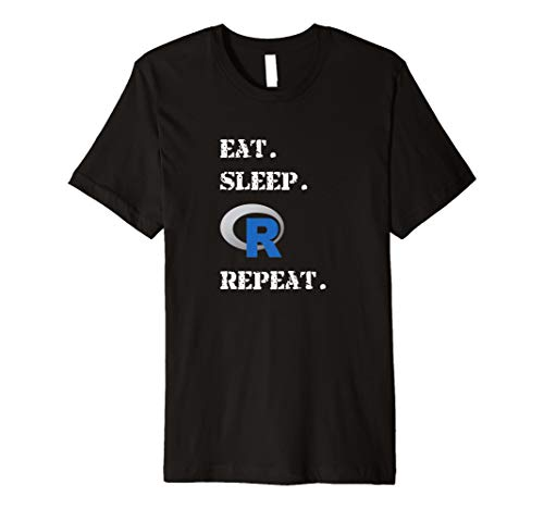 EAT SLEEP R Repeat Sprache Offizielle Logo T-Shirt