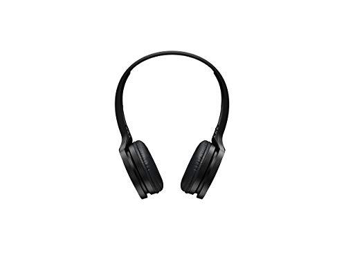 Panasonic RP-HF400BE-K Bluetooth On-Ear Kopfhörer (On-Ear, 20 h Akkulaufzeit, Quick Charge, Mikrofon, Sprachsteuerung, schwarz) (Community Lautsprecher)