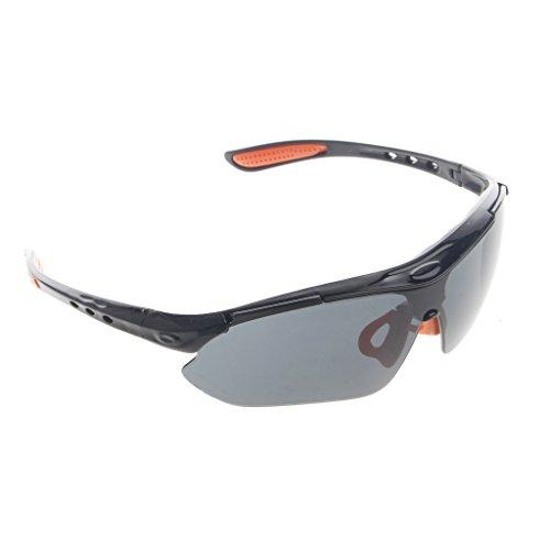 cuigu Schutzbrille mit Transparente Gläser Set Sonnenbrille Sicherheit für Arbeiten Laboratorien, Bau, chimies-Für mehr Komfort, grau