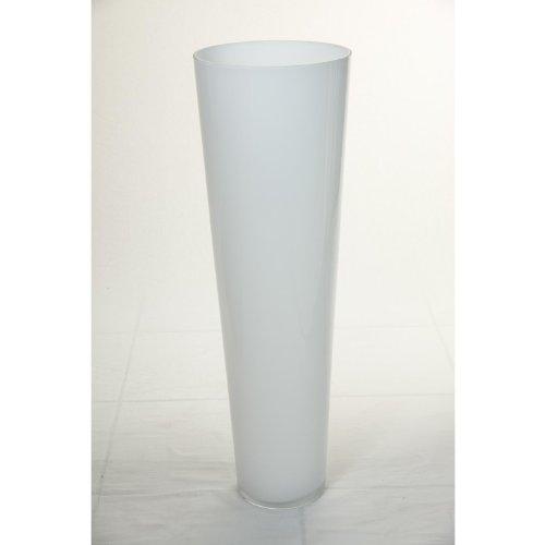 Jarrón de suelo de cristal ANNA, blanco, 70 cm, Ø 22 cm...