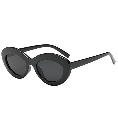 FRAUIT Damen Vintage Katzenauge Sonnenbrille Oval Form Großen Rahmen Sonnenbrille Eyewear Retro Unisex Damen Mode Polarisiert Sonnenbrille Freizeit Urlaub Tourismus Strand Elegant Brille Eyewear