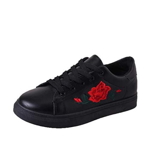Damen Schuhe, Resplend Mode Turnschuhe Sport Laufschuhe Stickerei Blumenschuhe Outdoor-Schuhe Schnürschuhe