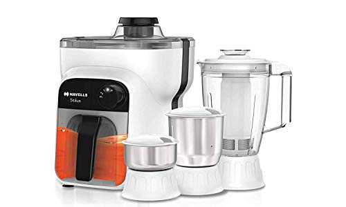 Havells Stilus 4 Jar 500-Watt Juicer Mixer Grinder (whitr/Black)