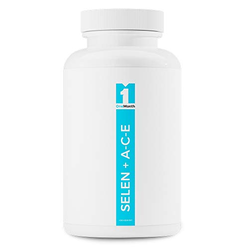 Selenium + ACE | 30 Kapseln (Vegan) |100% Selen 200mcg + Vitamin A, C, E | Zur natürlichen Unerstützung des Hautbildes und der Immunabwehr | Premium Qualität