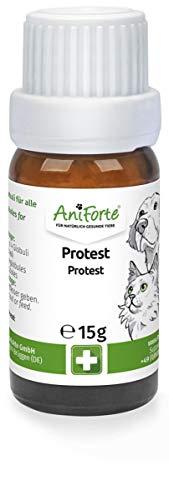 AniForte Protest Globuli für Hunde, Katzen, Haustiere - Bachblüten zur Beruhigung, Natürliches Mittel bei Fauchen, Kratzen, Unsauberkeit und Unmut