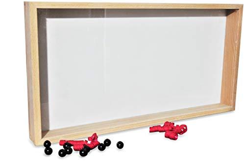 D\'Elegance tiefer 3D BILDERRAHMEN zum befüllen   umweltschonend   Holz/Glas, Buche Natur   52x27x4,7Cm Objekt-Bilder-Rahmen