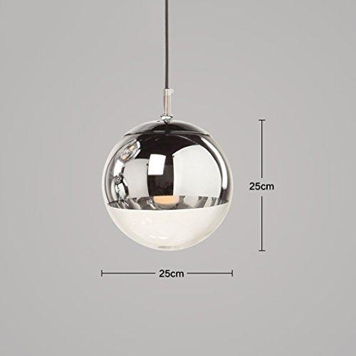 Dongyd lampadari a Sfera di Vetro placcante elettrolitico, Lampada di Pendente Moderna Creativa della Stanza di Studio del Ristorante di Antivari (Dimensioni : 25cm)