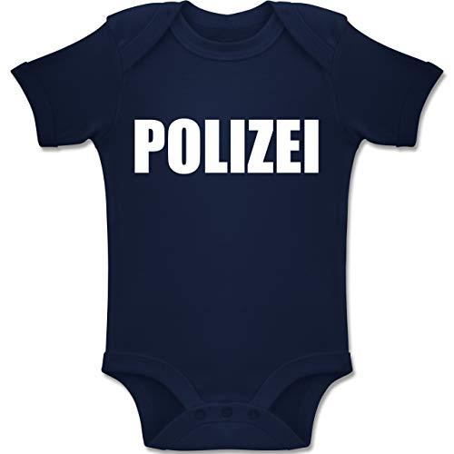 Polizei Kostüm Shirt - Shirtracer Karneval und Fasching Baby - Polizei Karneval Kostüm - 1-3 Monate - Navy Blau - BZ10 - Baby Body Kurzarm Jungen Mädchen