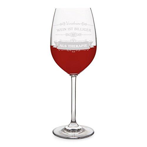 Leonardo Weinglas mit individueller Gravur - Weintherapie - Rotweinglas 470 ml