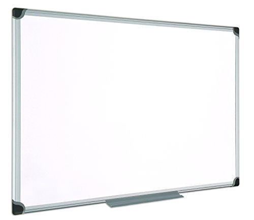 Bi-Office Maya W Series Tableau blanc magnétique avec cadre en aluminium 90 x 60 cm Blanc