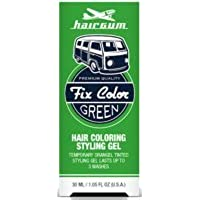 Hairgum Fix Color Temporary Hair Coloring Styling Gel - Green 1 oz. (Pack of 6)
