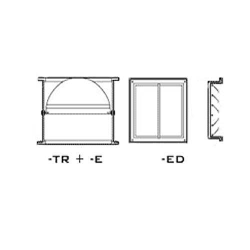 Verschlussklappe Zubehör für Dachventilatoren der Serie TR - Torrette, [Größe]:TR 70/100