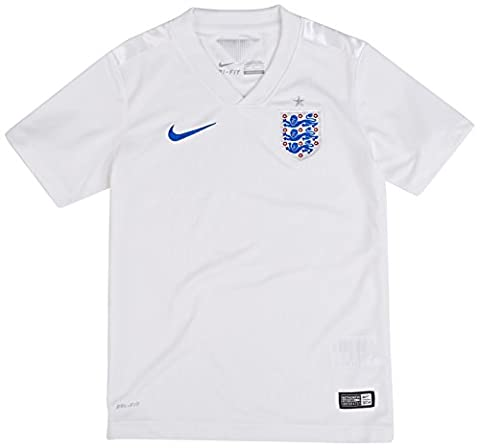 NIKE Junior England Short Sleeve Home Jersey 2014 - SMALL, WHT/SPRO
