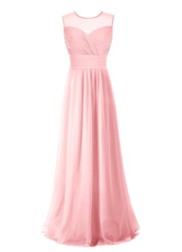 Find Dress Robe de Cérémonie Femme pour Mariage Style Unique Robe de Cocktail Mousseline Rétro Vintage Grande Taille Rose