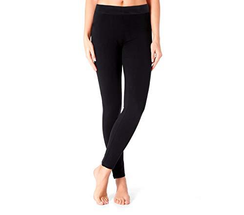 Leggings donna termico mod. ZERO GRADI nero con interno in pelliccia senza cuciture super coprente. MWS
