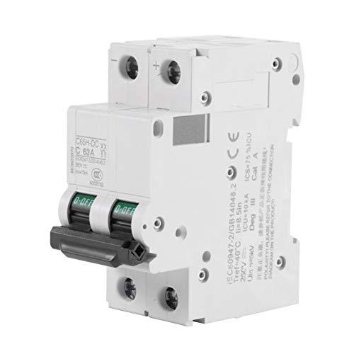 Leistungsschalter 63A C65H-Dc 2P Niederspannungs-Leitungsschutzschalter Dc 250V 2-Pole-Schutzschalter-Luftschalter -