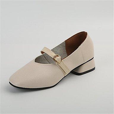 Wuyulunbi @ Zapatos De Mujer Pu Otoño Invierno Suela Ligera Flats Toe Para Casual Blanco Marrón Amarillo Us5.5 / Eu36 / Uk3.5 / Cn35