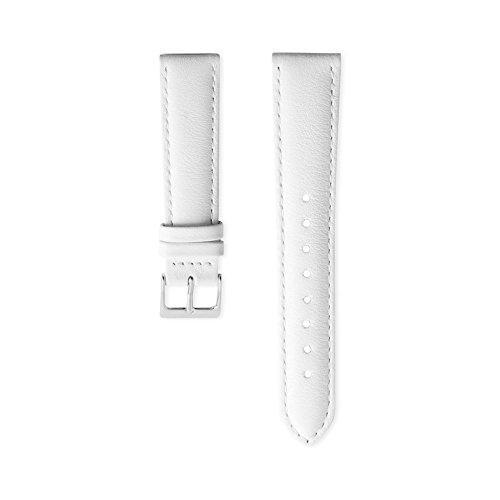 Nordgreen Lederarmband Weiß für 36mm Uhren Silber
