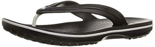 Crocs Unisex-Erwachsene Zehentrenner Zehentrenner Crocband Flip, Schwarz (Schwarz), 41-42 (Herstellergröße: M8/W10)