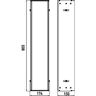 Emco 975000051 150 Unterputz Einbaurahmen, für Unterputzschränke Asis, für Schrankmodule mit der Höhe 809 mm-975000051, grau, One Size