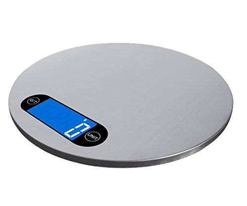Digital Lebensmittel Waage, focipow Edelstahl Küchenwaage Multifunktional Personenwaage, wiegt sacles mit LCD-Display, für Home & kithen grau