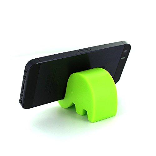 Hosaire 1X Supporto Stativo in Plastica,supporto per telefono cellulare,Gadget creativi, progettati per i pigri,verde elefante Verde