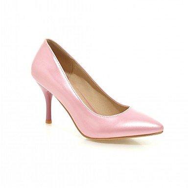 LYNXL Talloni delle donne Primavera Autunno Dress Comfort in similpelle ufficio & carriera Stiletto Heel Casual Nero Blu Rosa Rosso Sliver Red