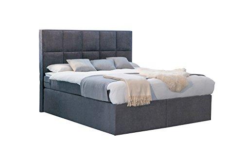 Betten Jumbo Dream Amerikanisches Boxspringbett mit Luxus 7-Zonen Taschenfederkernmatratze und Kaltschaumtopper H2 bis H3 Anthrazit USA Bett Hotelbett
