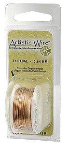 Natural Colour Artistic Wire 0.51mm Diameter 24ga 9.1m Reel