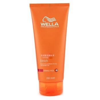 Wella - Enrich Moisturizing Conditioner For Dry &Amp; Damaged Hair (Normal/ Thick) 200Ml/6.7Oz - Soins Des Cheveux
