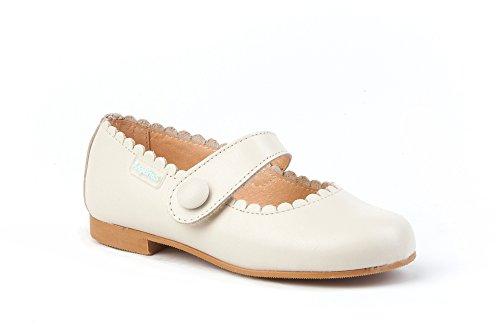 5ad7dd983ba55 Angelitos 1512 Ballerines en cuir souple pour jeunes filles - bleu - beige