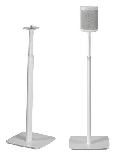 Flexson Verstellbare Bodenständer für Sonos One und Sonos PLAY:1 (Paar) Weiß -