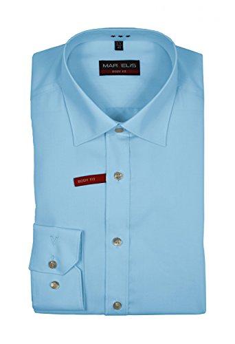 Marvelis - Body Fit/Slim Fit - Herren Hemd in verschiedenen Farbtönen, Bügelleicht (6799/64) Blau (77)