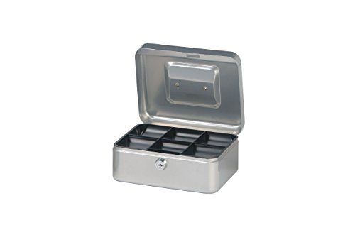 Maul Geldkassette 2, Silber, Herausnehmbarer Hartgeldeinsatz, 200 x 90 x 170 mm, 5610295, 1 Stück