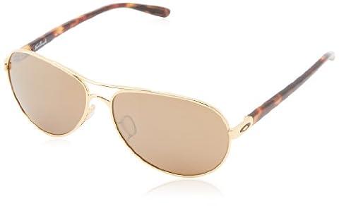Oakley Women's Feedback Sunglasses, Gold, 59