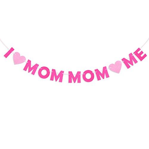 ma und Mamma Liebe Mich Banner Muttertagsdekoration für Muttertag Mama Geburtstagstag 3M ()