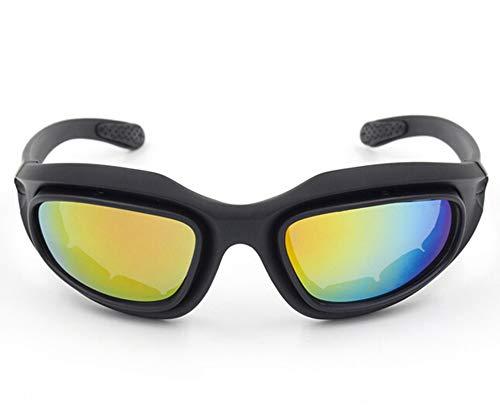 Sonnenbrille Für Brillenträger Sportbrille Mit Wechselgläsern Vier Objektive Fahrrad Outdoorbrille Cs Taktische Schutzbrille Motorradbrille C5 Polarisierter Anzug Black Damen Herren