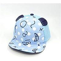 Young shinee Sombrero de los niños Ear Palm Printed Toddler Mesh Cap Bebé Protección Solar Gorra de béisbol Sun Visor por 6-24 Meses (Pink) Gorra para niños pequeños (Color : Azul, tamaño : 45-49cm)
