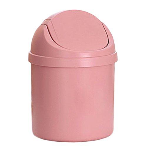 mer Creative Desktop Mülleimer Schlafzimmer Aufbewahrungsbox Rosa Multifunktions Speicherfässer Rosa 19.5CM*14CM (Rosa Kunststoff-eimer)