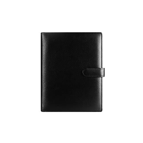 Mini FAI DA TE Personalizzati A6 Notebook in pelle di lusso Nero Planner Anelli Binder Sketchbook Agenda Agenda Pads Regalo Pagine interne 160 pagine