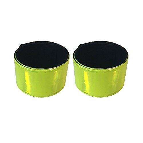 2er Set Reflektorband - Reflexband für Outdoor Joggen Laufen Reiten Radfahren und Kinder - Schnapparmband Reflektorbänder - 5102