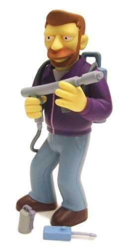 PlayMates Simpsons Hank Scorpio Action Figure - Rare Chase Figure by 1